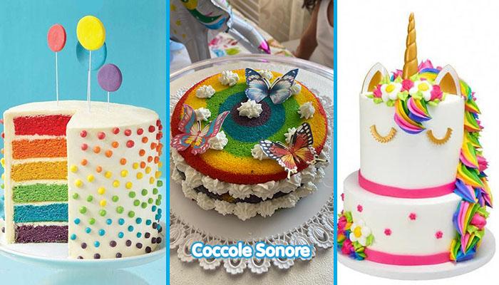 torte arcobaleno rainbow cakes