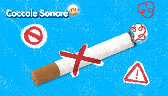 disegno di una sigaretta con una croce rossa sopra divieto di fumare