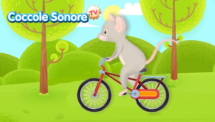 topolino va in bicicletta