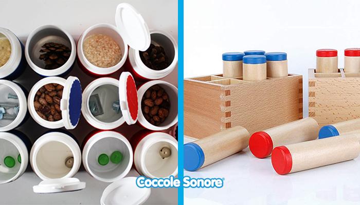 cilindri dei rumori montessori fai da te e in legno
