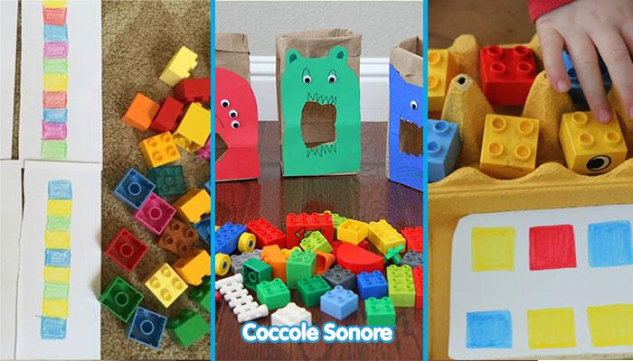giochi con Lego per imparare i colori