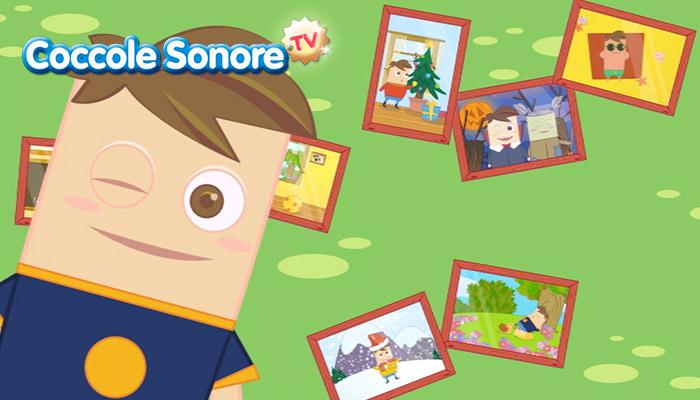 Cornici di foto dei vari mesi dell'anno e bambino che fa occhiolino, Coccole Sonore