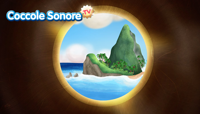 Immagine a binocolo di un'isola, Coccole Sonore
