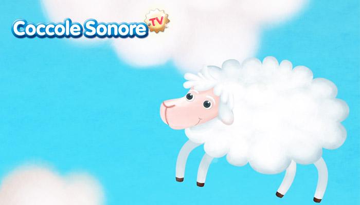 Disegno di pecorella tra le nuvole, Coccole Sonore
