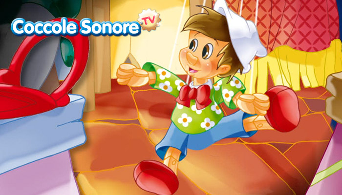 Pinocchio burattino a gambe larghe, Coccole Sonore