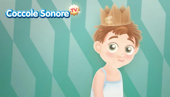 Bambino con la corona in testa, Coccole Sonorre