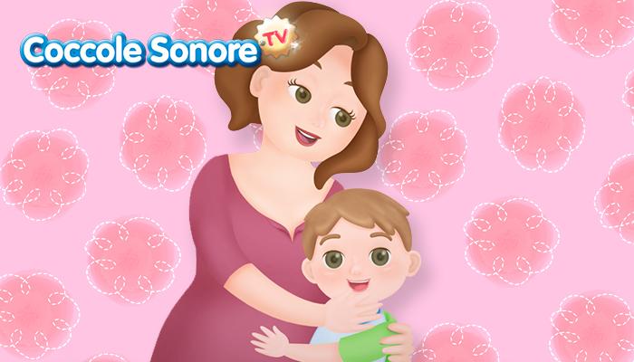 disegno di una mamma che abbraccia il suo bambino