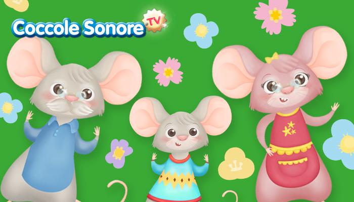 topolino nonno, topolino nipote e topolina nonna, festa dei nonni coccole sonore