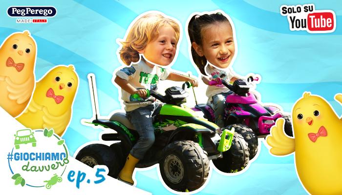 bambini guidano quad peg perego