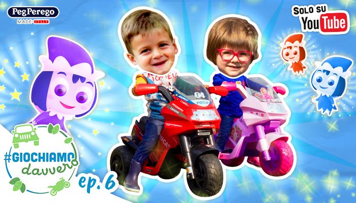 bambini guidano moto peg perego