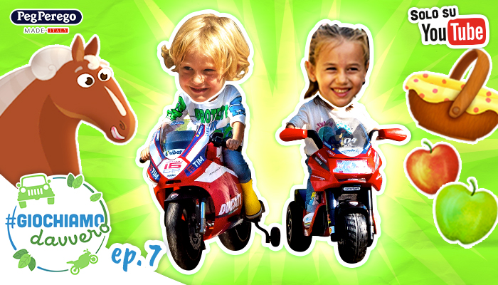 bambini guidano le moto peg perego webserie picnic dell'amicizia