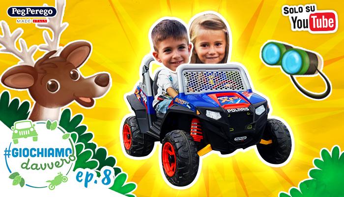 bambini guidano fuoristrada peg perego