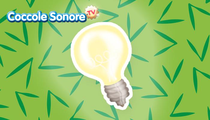disegno di una lampadina accesa per la giornata del risparmio energetico