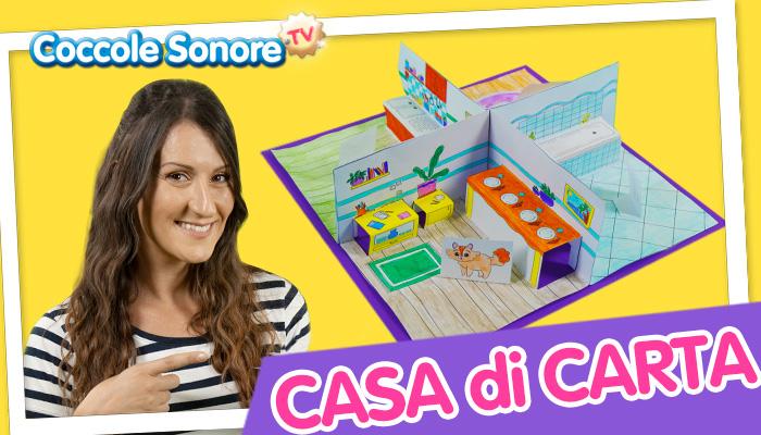 Greta Coccole Sonore crea la casa di carta 3d per bambini